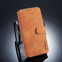 Dg.Ming Booktype Hoesje Xiaomi Pocophone F1 - Bruin