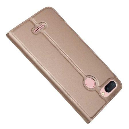 Booktype Hoesje voor de Xiaomi Redmi 6 - Roze / Goud