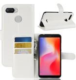 Litchee Booktype Hoesje voor de Xiaomi Redmi 6 - Wit