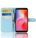 Litchee Booktype Hoesje voor de Xiaomi Redmi 6 - Blauw