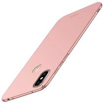 Mofi Hardcase Hoesje Xiaomi Redmi Note 6 Pro - Roze / Goud