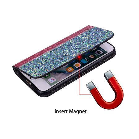 Glitters Booktype Hoesje voor de Xiaomi Redmi Note 6 Pro - Rood
