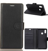 Litchee Booktype Hoesje voor de Xiaomi Redmi S2 - Zwart