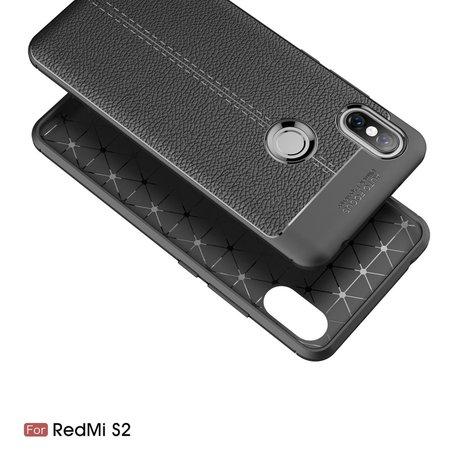Litchee TPU Hoesje voor de Xiaomi Redmi S2 - Zwart