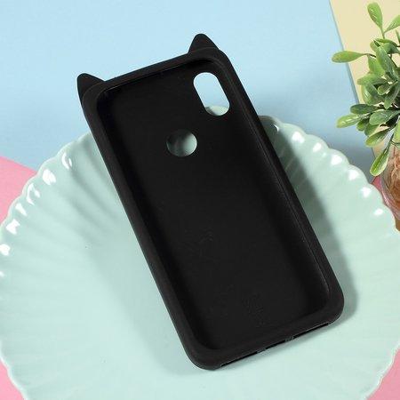 Kat siliconen Hoesje voor de Xiaomi Redmi S2 - Zwart