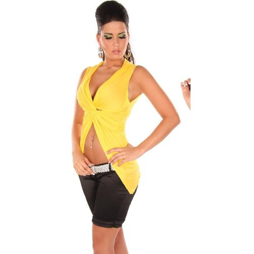 GEEL WRAPLOOK TOP