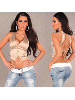 IN-STYLE FASHION CHAMPAGNE GILET