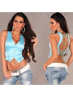 IN-STYLE FASHION TURQUOISE GILET