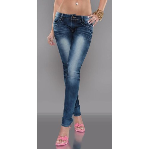 JEANS STRASS KNOPEN