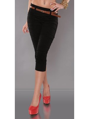 Zwart Moos Broek Fashion Capri Broek Capri qxwI4t47E