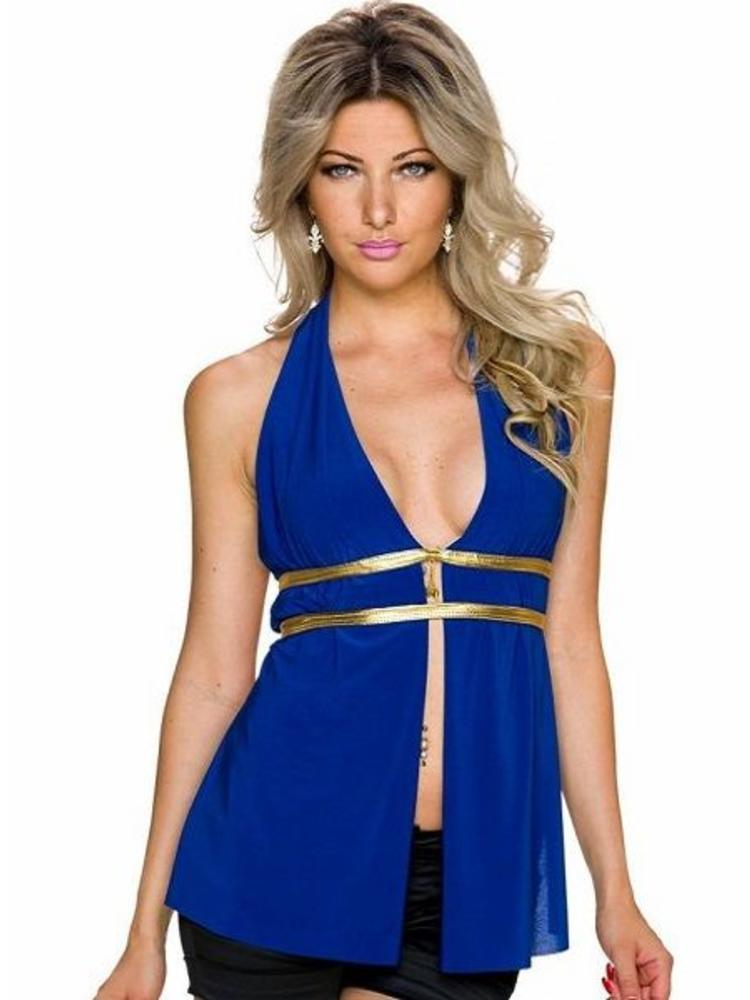 80c1282d03d19e sexy blauw party top - MOOS FASHION