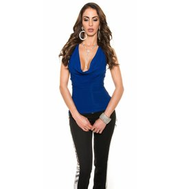 IN-STYLE FASHION BLAUWE PARTY TOP