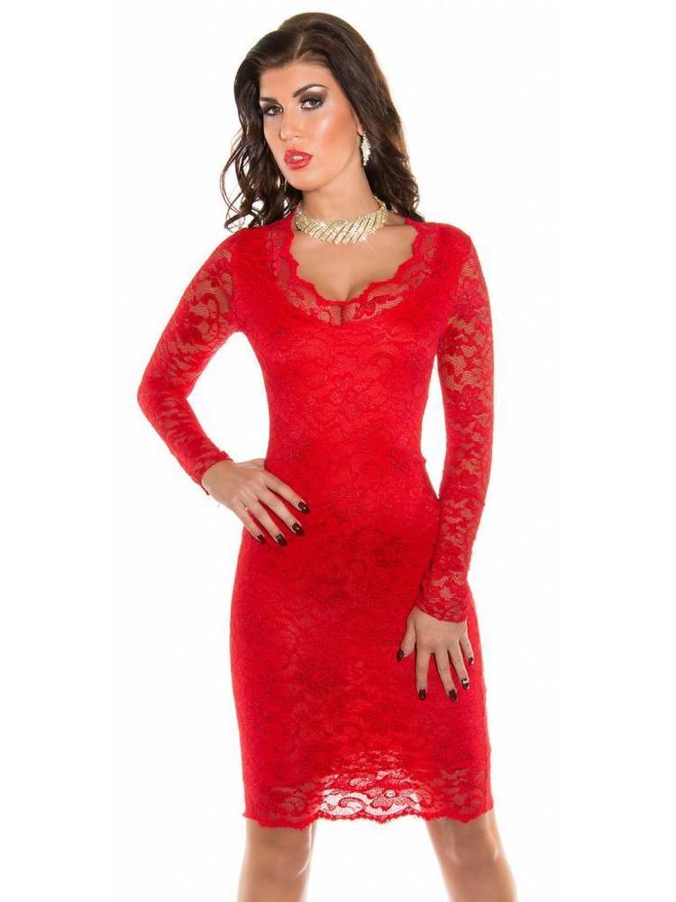 Rode party jurk