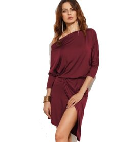 BORDEAUX ONE-SHOULDER JURKJE