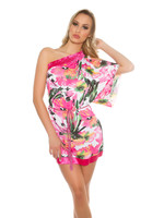 IN-STYLE FASHION ROZE BLOEMENPRINT TUNIEK