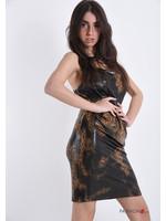 FashionPo WETLOOK JURKJE SLANGENPRINT