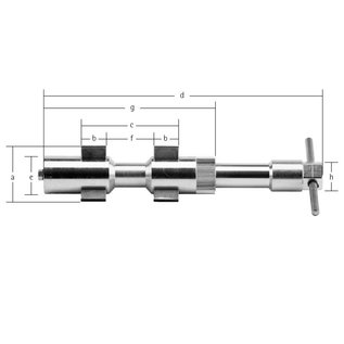 CENTROMAT Tipo 2 Dispositivo de Centragem Interior Ø 15-64 mm