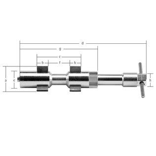Modelé 2 Dispositif de centrage intérieur Ø 15-64 mm
