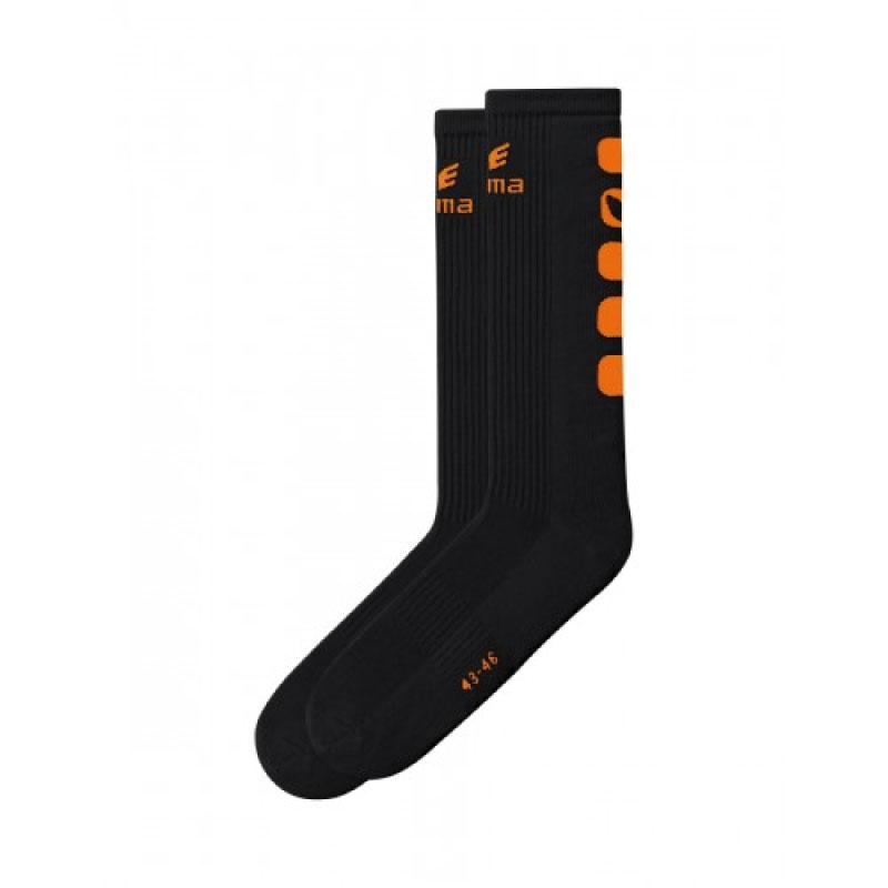 Erima Sokken Lang zwart/oranje