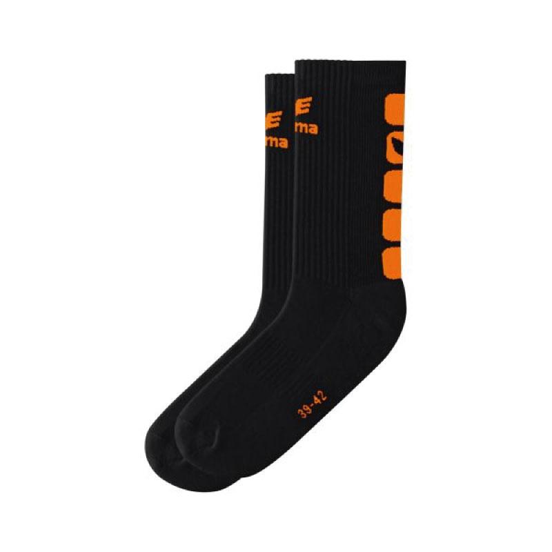 Erima Sokken zwart/oranje