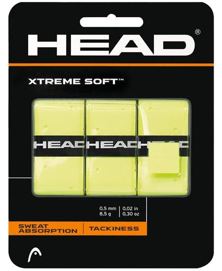 HEAD XTREME SOFT OVERGRIP 3 ST. GEEL