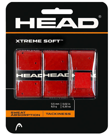 HEAD XTREME SOFT OVERGRIP 3 ST. ROOD