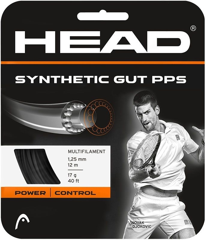 Head Synthetic Gut PPS Set Black