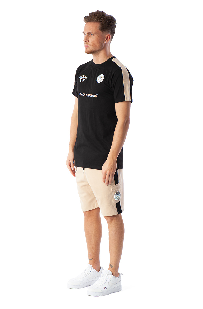 Black Bananas BLCK F.C. striped tee black/sand