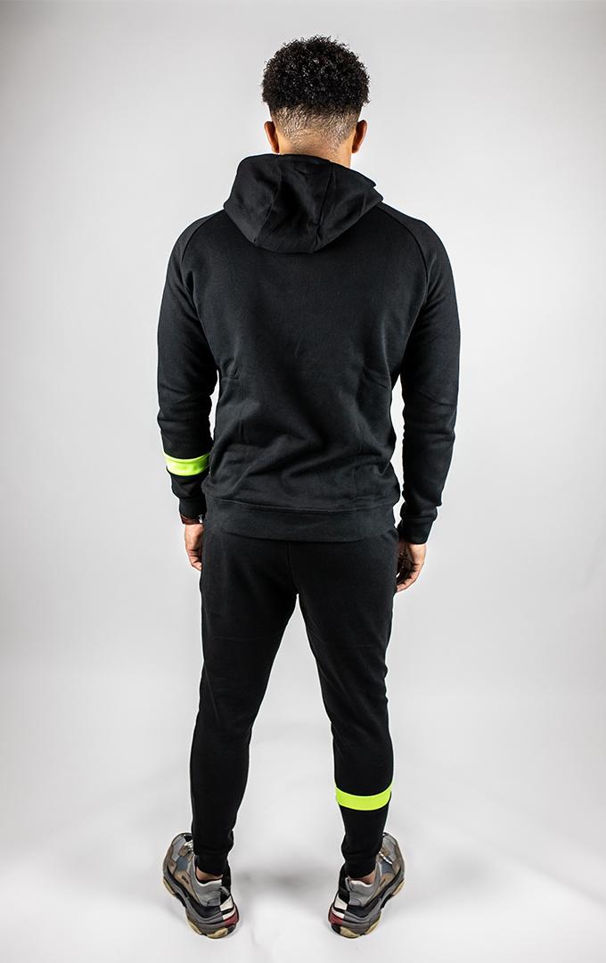 Donza Jogging Suit zwart/neon geel