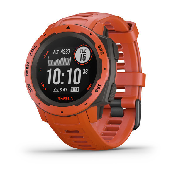 GARMIN INSTINCT FLAME RED RUGGED GPS WATCH