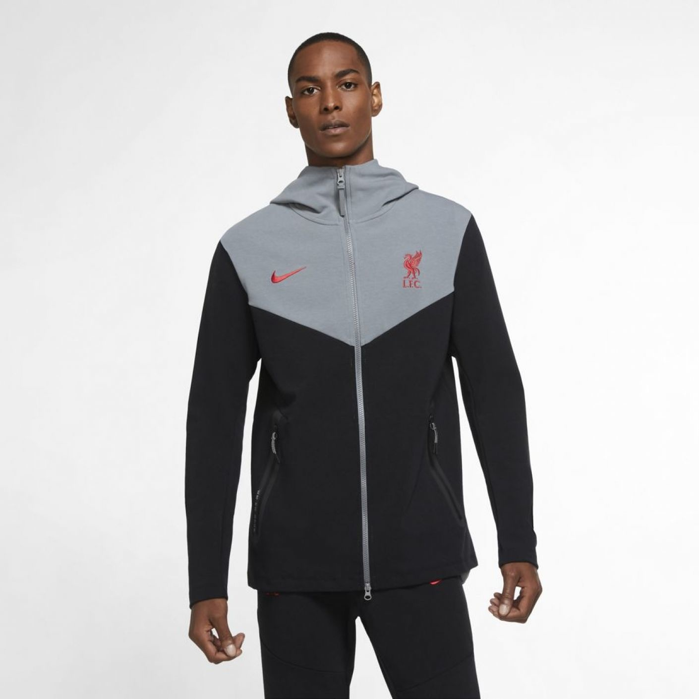 Nike Liverpool FC Tech Fleece Trainingspak FZ Zwart
