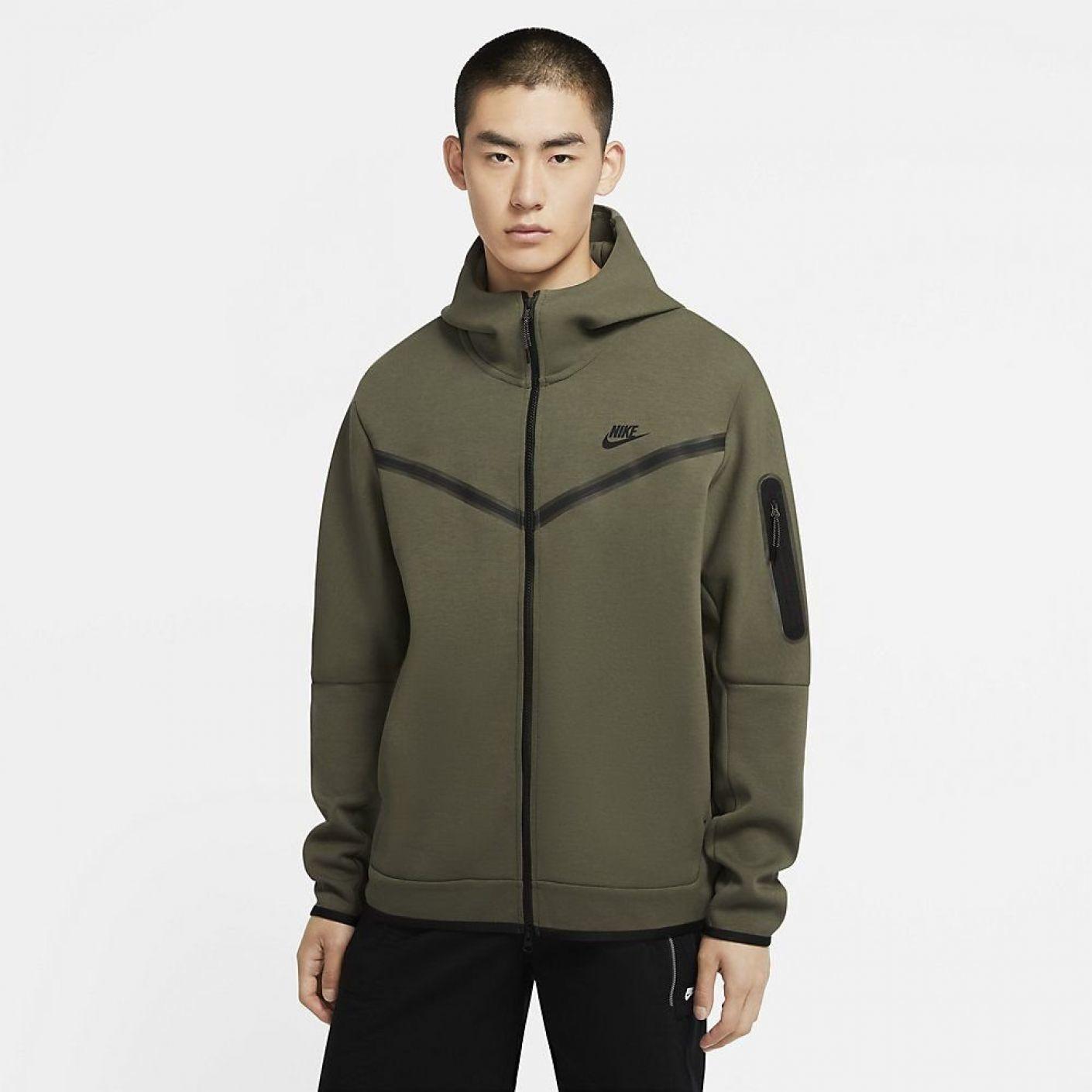 Nike Tech Fleece Windrunner donker groen
