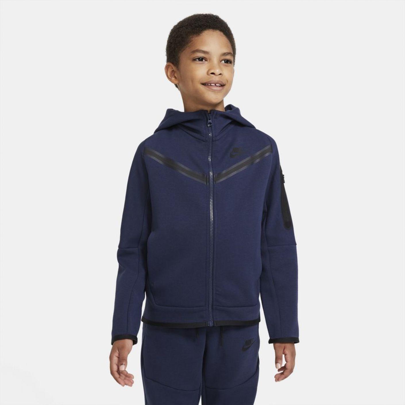 Nike Tech Fleece Windrunner donker blauw Kids