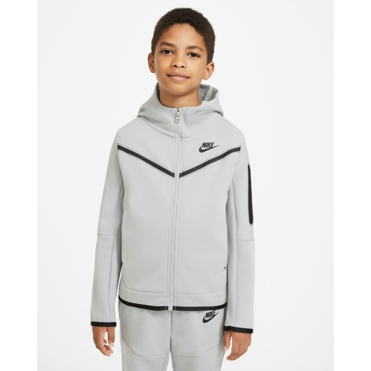 Nike Tech Fleece Windrunner Grijs kids
