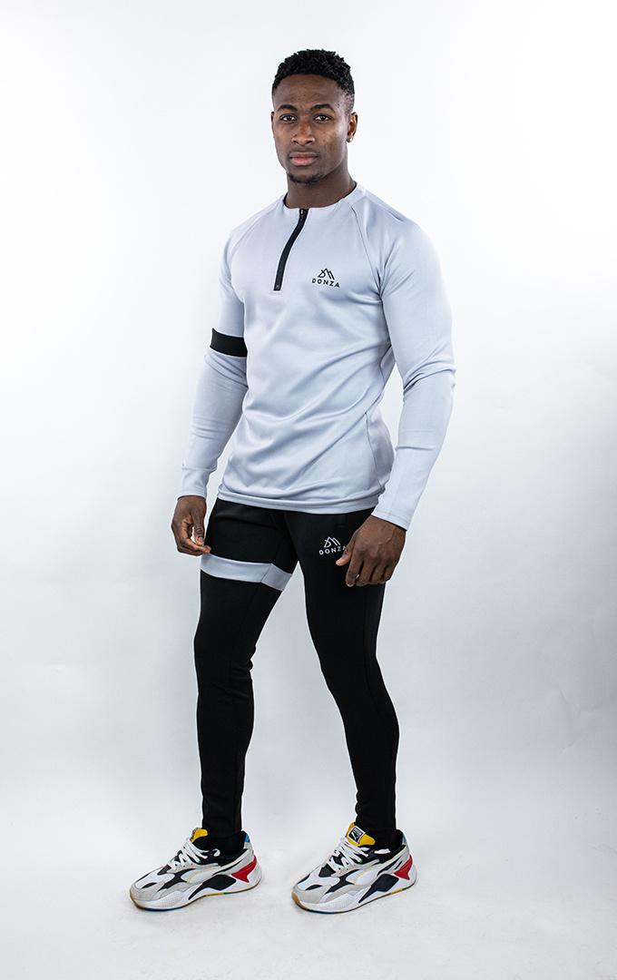 Donza Polyester Suit  grijs/zwart