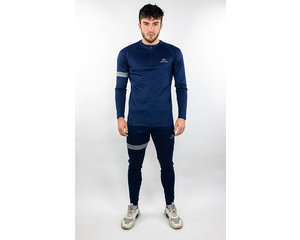 Donza Donza Polyester Suit  navy/grijs