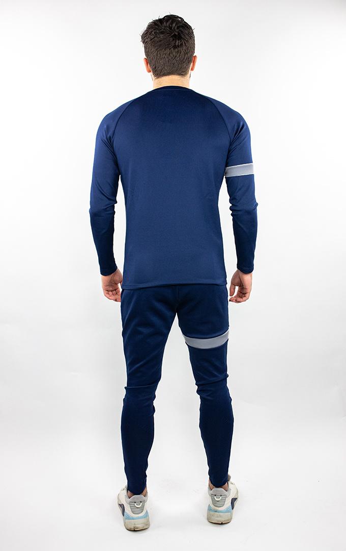 Donza Polyester Suit  navy/grijs