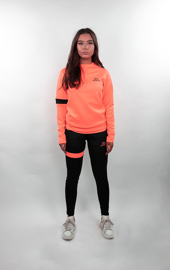 Donza Donza Polyester Suit  peach/zwart