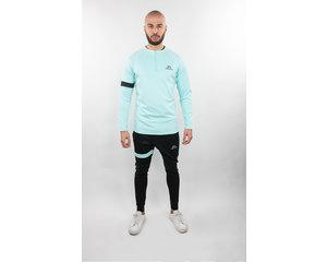 Donza Donza Polyester Suit  aqua blauw/ zwart