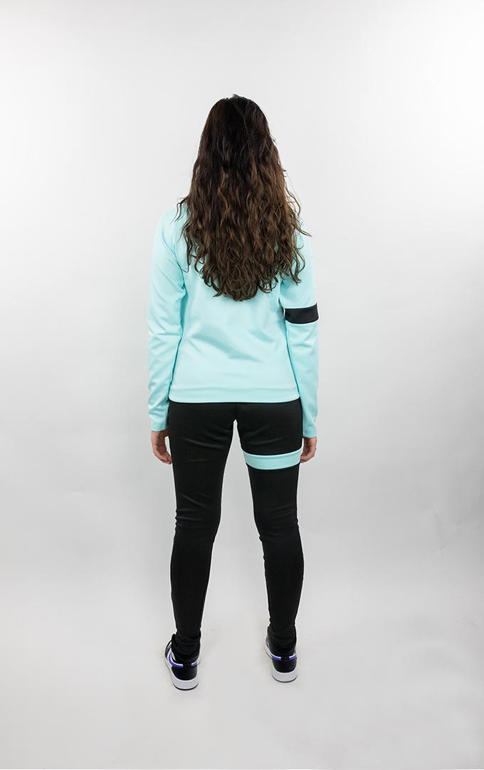 Donza Polyester Suit  aqua blauw/ zwart