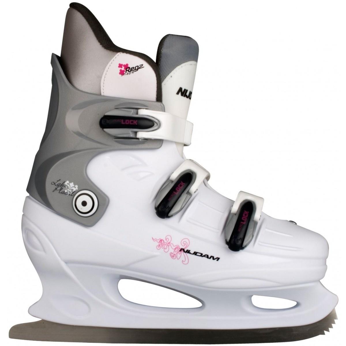 Nijdam ijshockeyschaatsen hardboot  Wit