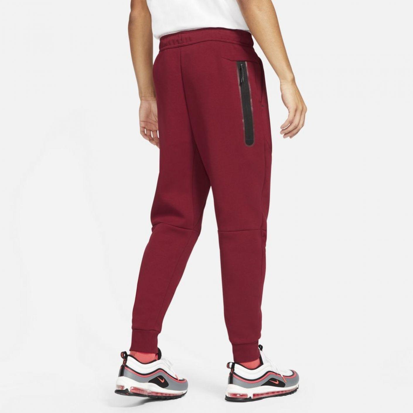 Nike Tech Fleece Jogger Donkerrood Felrood