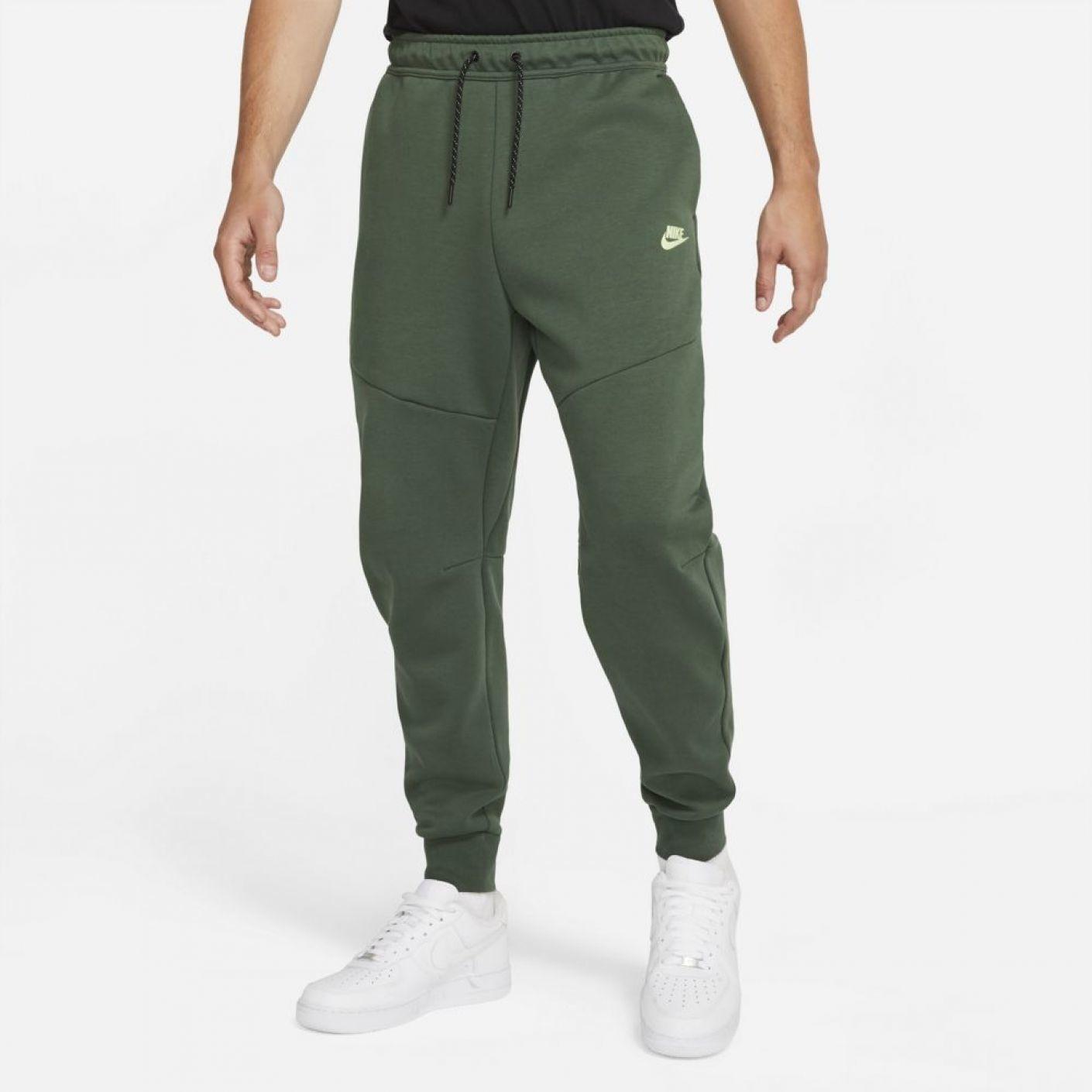 Nike Tech Fleece Jogger  Donkergroen Lime