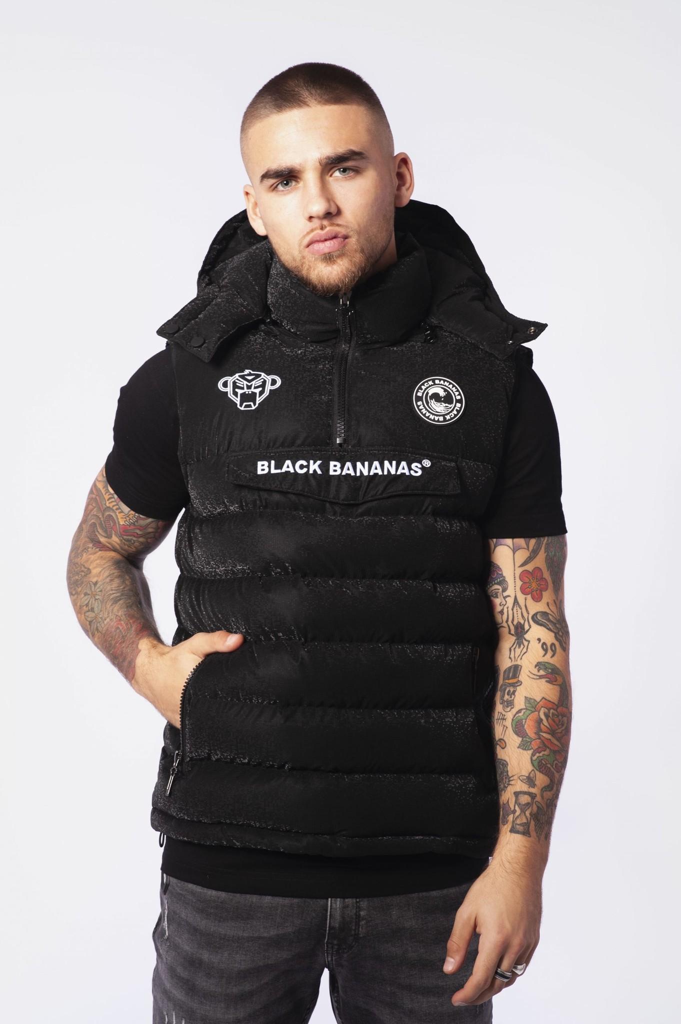 Black Bananas Anorak Block Bodywarmer Zwart