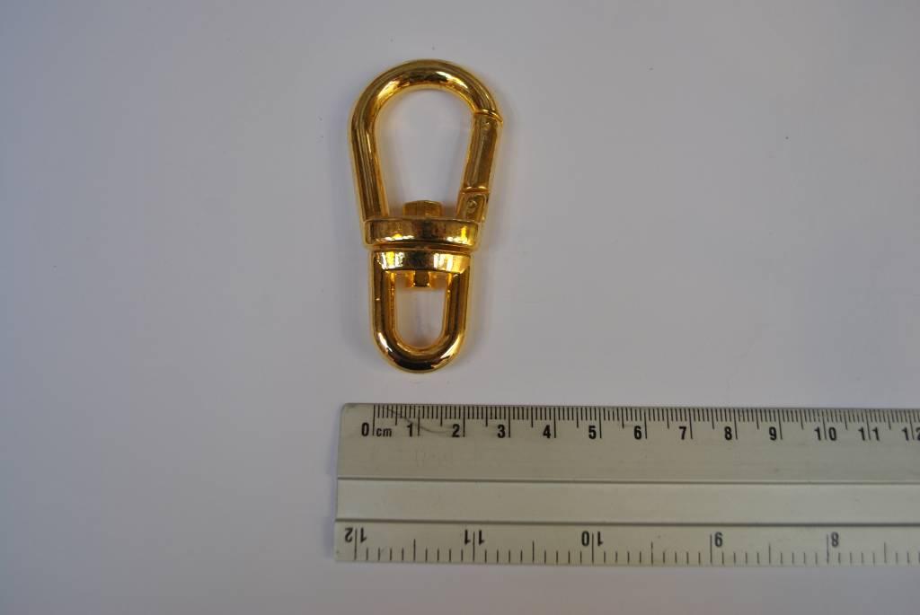 musketonhaak goud 10mm groot