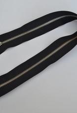 Afgewerkte rits 50cm zwart brede band