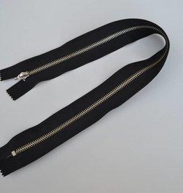 K580 Afgewerkte rits 50cm zwart brede band