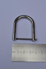 D- ring  open 30mm zilver