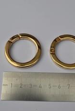 Ronde ring 30mm goud