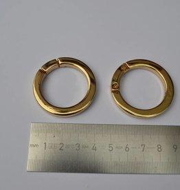 R69 Ronde ring 30mm goud (per 2)